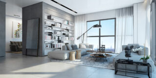 An Apartment Interior Design in the W Boutique Tower by Ando Studio