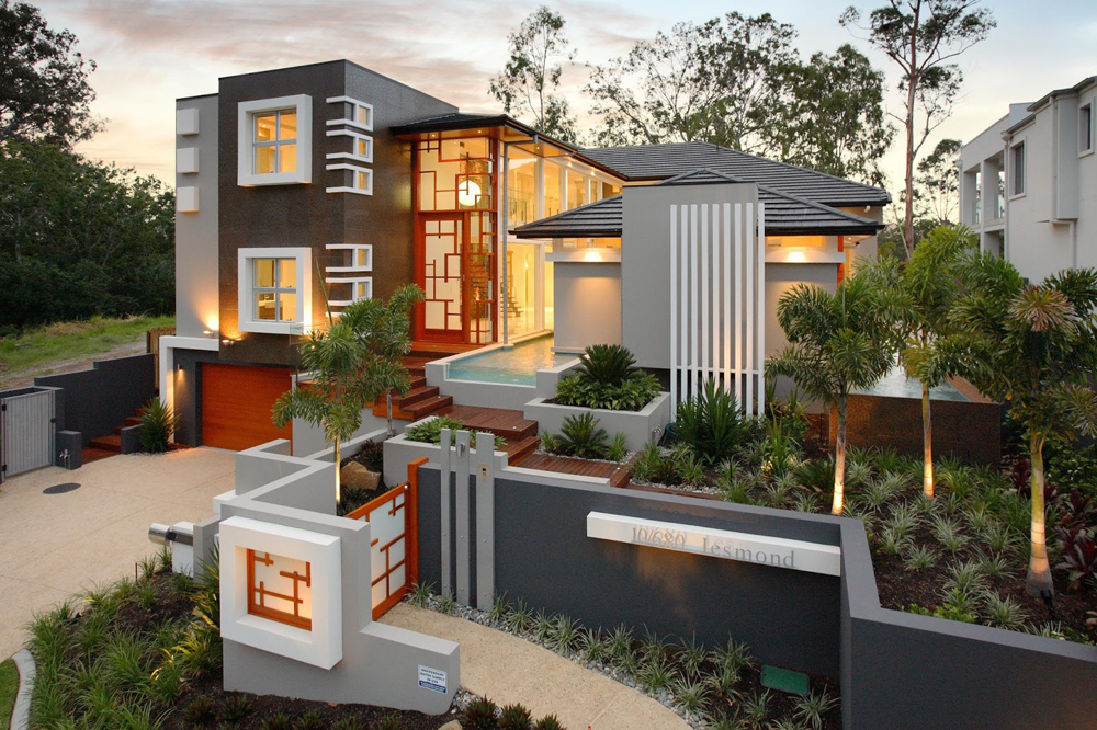 A wonderful residential house by project and design for Home architecture australia