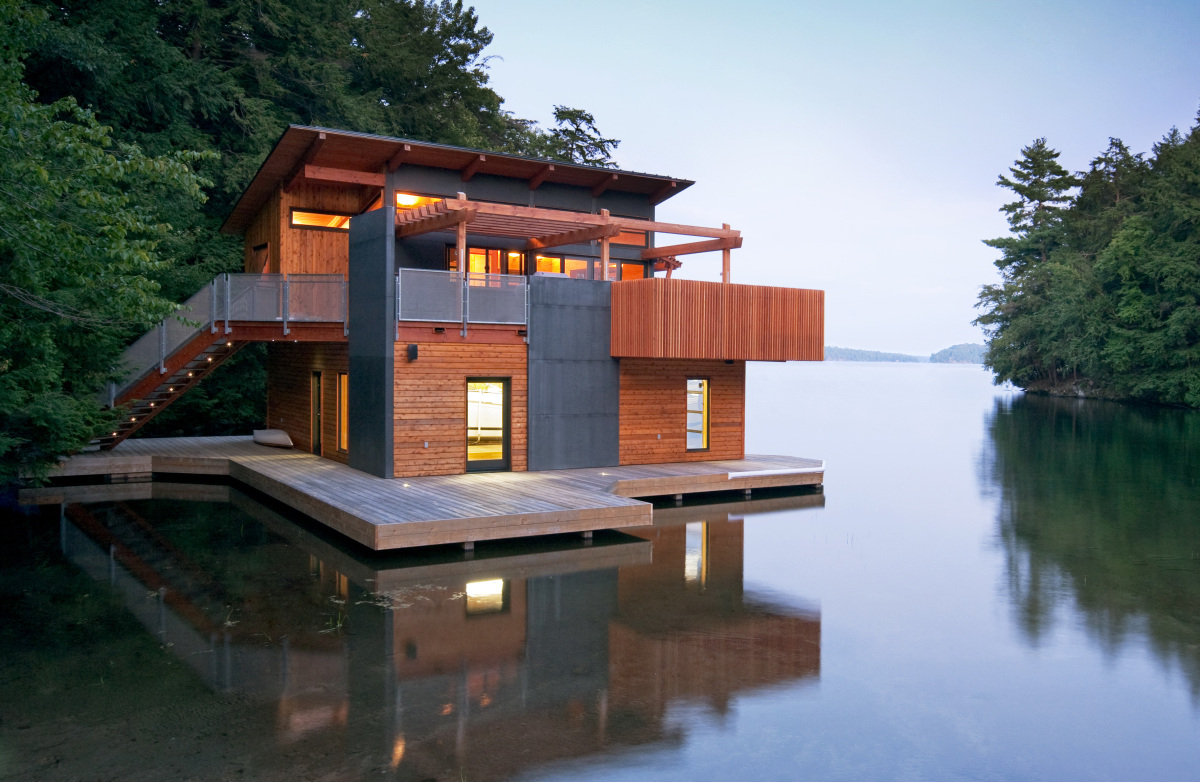 Floating homes that will make you want to live on water for Different types of house plans