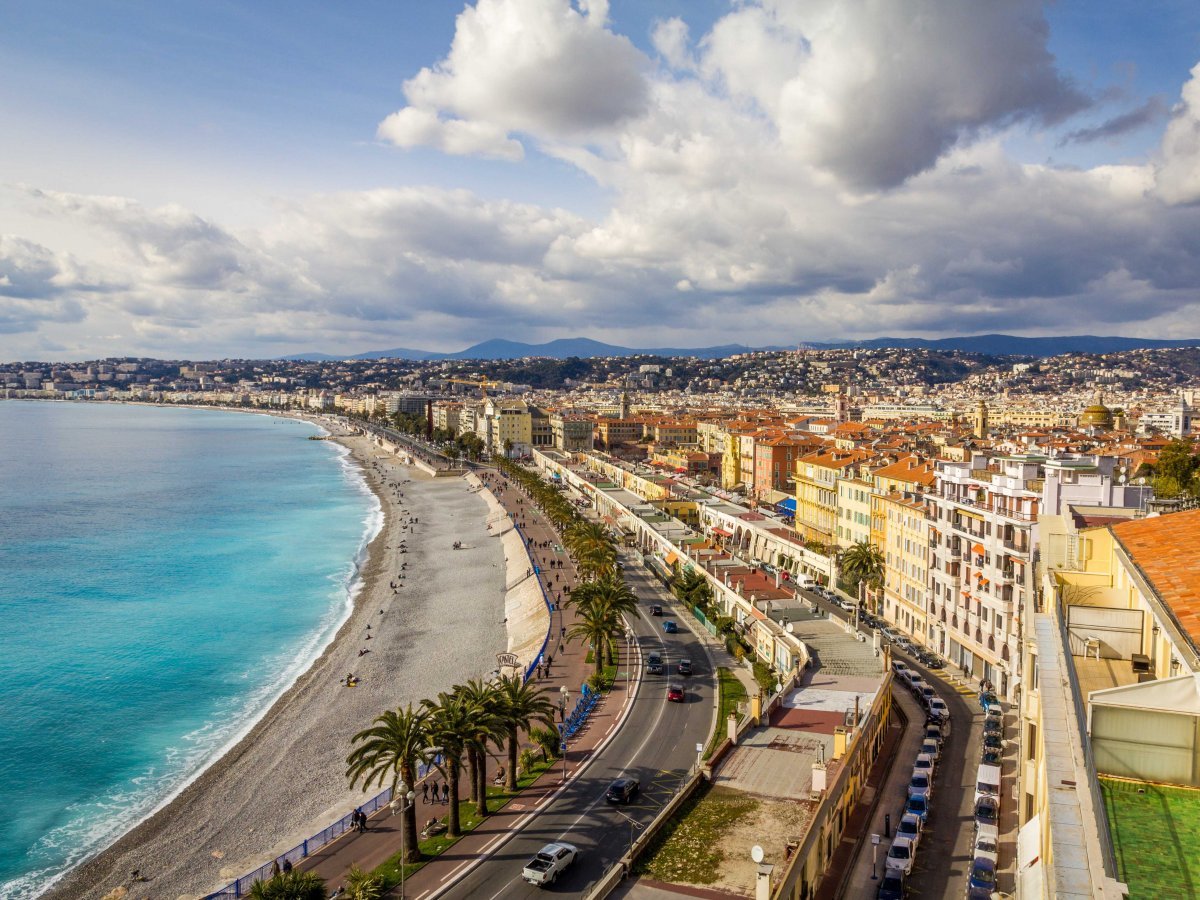 Promenade des Anglais in Nice, in south of France