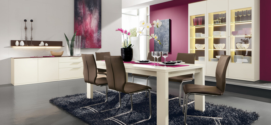 Beau 12 Modern Pink Dining Room