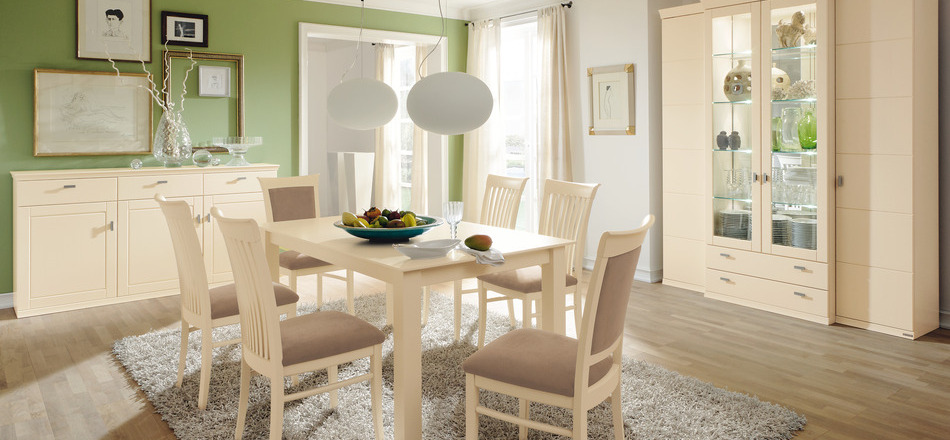 Light And Airy Green Dining Rooms