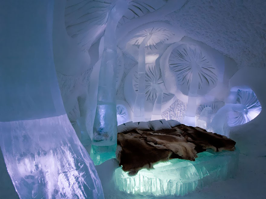 14 Ice Hotel in Jukkasjarvi, Sweden