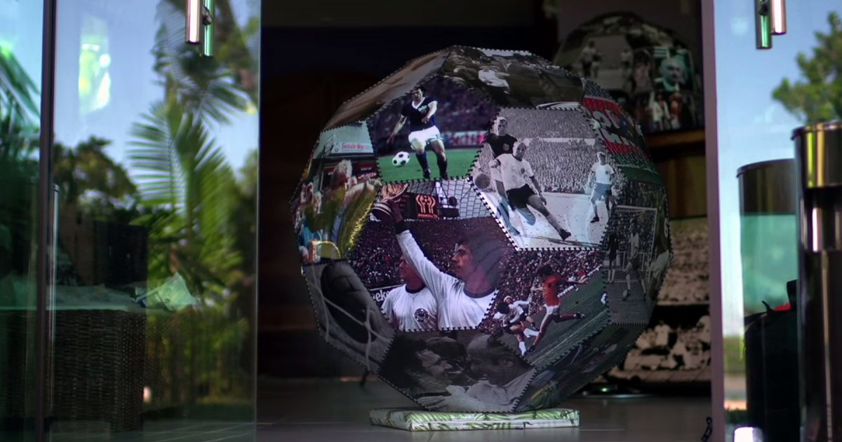One of the soccer-themed ornaments.