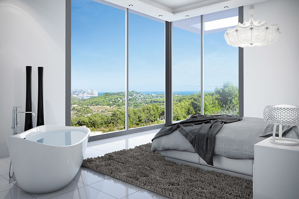 08. Master bedroom with indoor bath and with an awesome view.