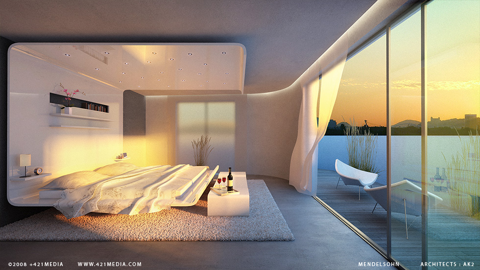 A surreal bedroom with great view 15
