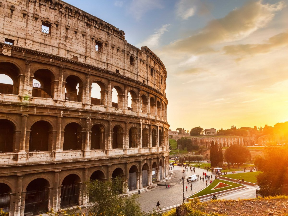 Rome's stately Colosseum