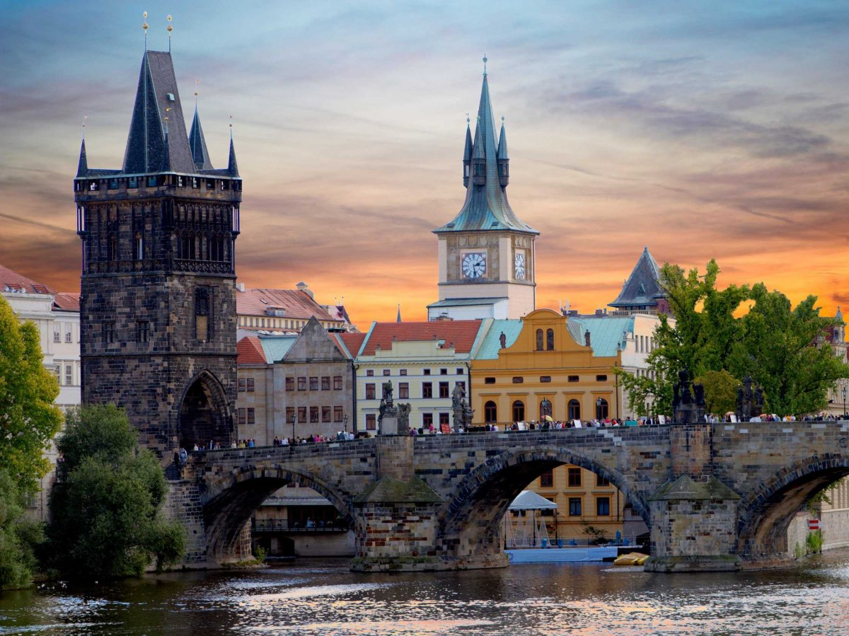 612-year-old Charles Bridge in Prague, Czech Republic