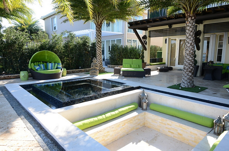 5-Cool-sunken-lounge-in-the-patio-with-an-exotic-topical-theme