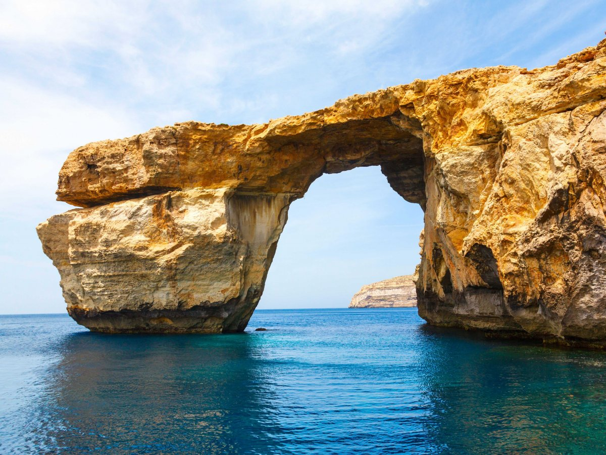 Limestone arch on the Maltese island of Gozo