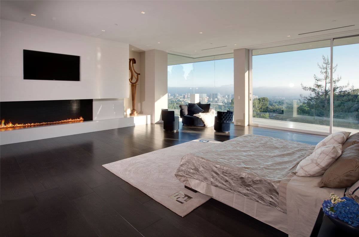 excellent huge modern master bedroom | Sarbonne Road Residence by McClean Design | Architecture ...