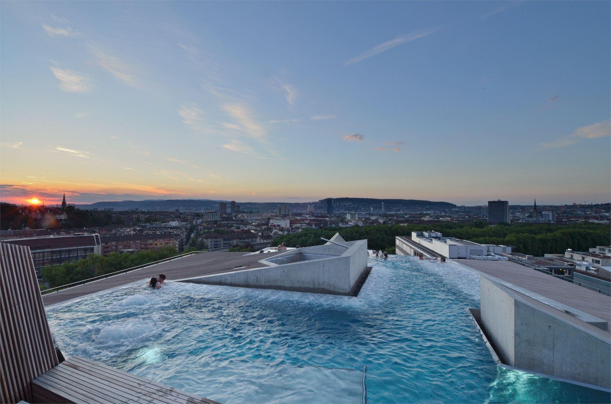 Hotel outdoor pool design  B2 Boutique Hotel by Althammer Hochuli Architekten | Architecture ...
