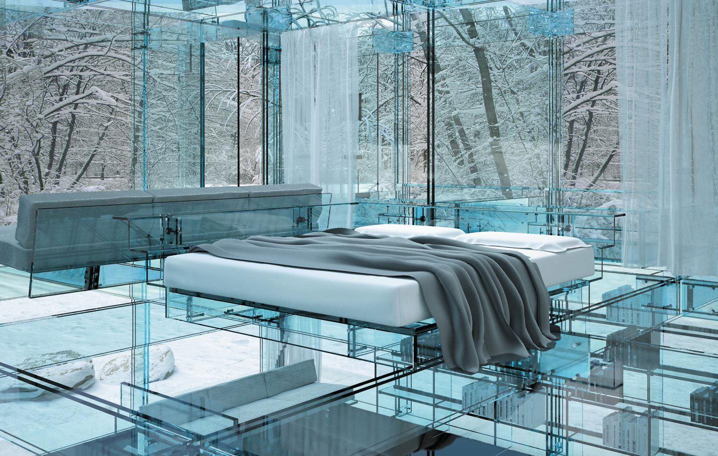 Glass Houses By Santambrogio Milano on dream homes