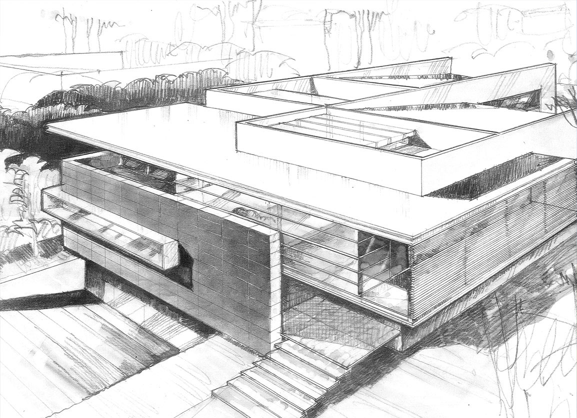 architecture house sketch. Delighful Sketch GodoyHouse36 On Architecture House Sketch
