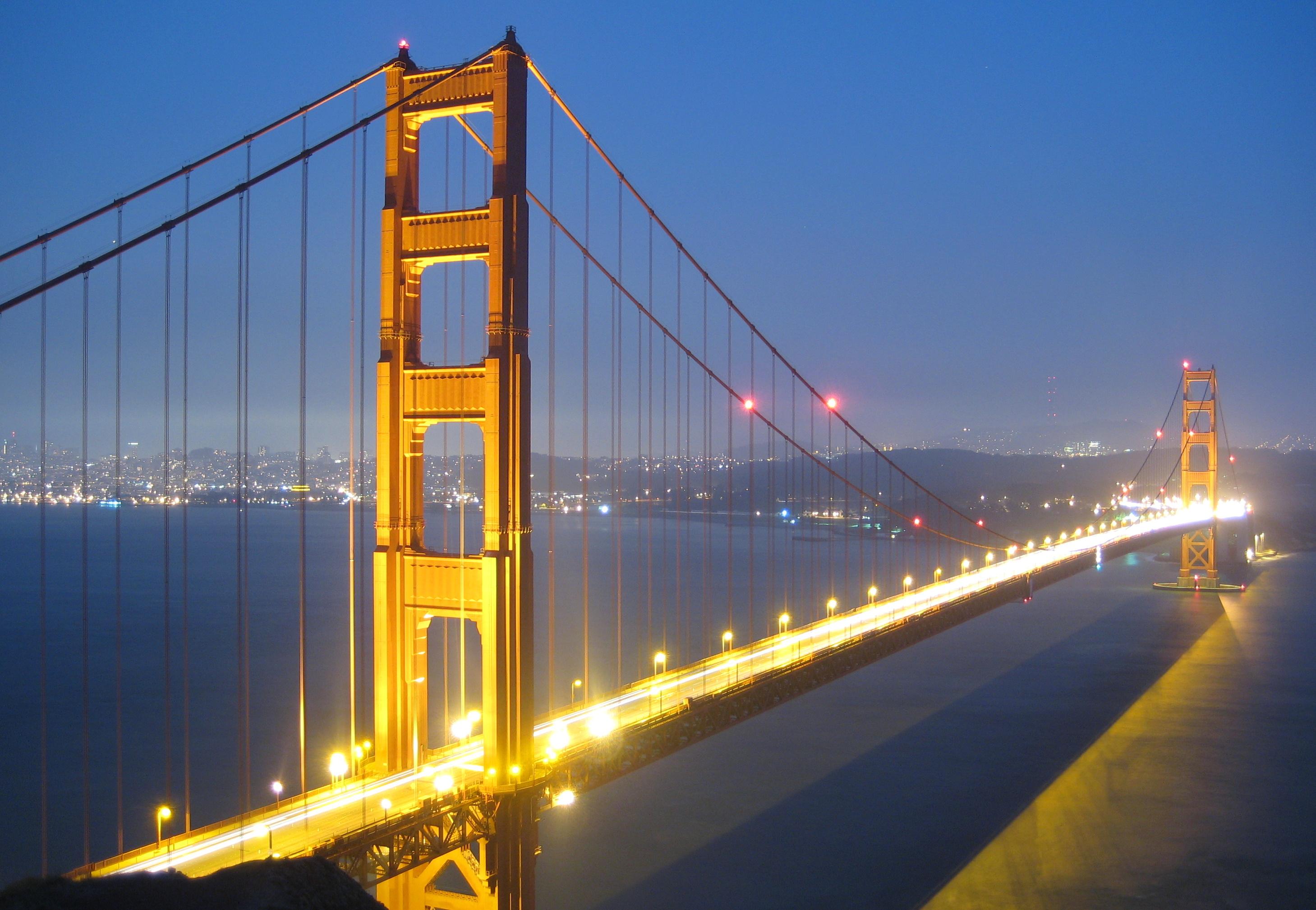 Golden Gate Bridge Evening USA