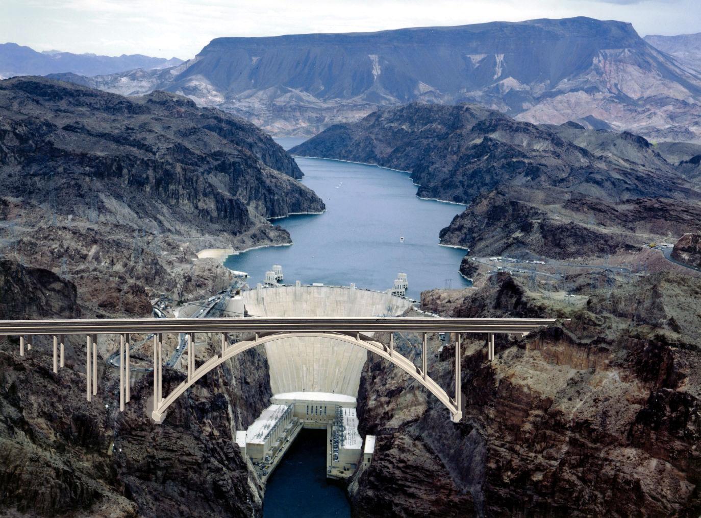 Hoover Dam Bypass Bridge USA