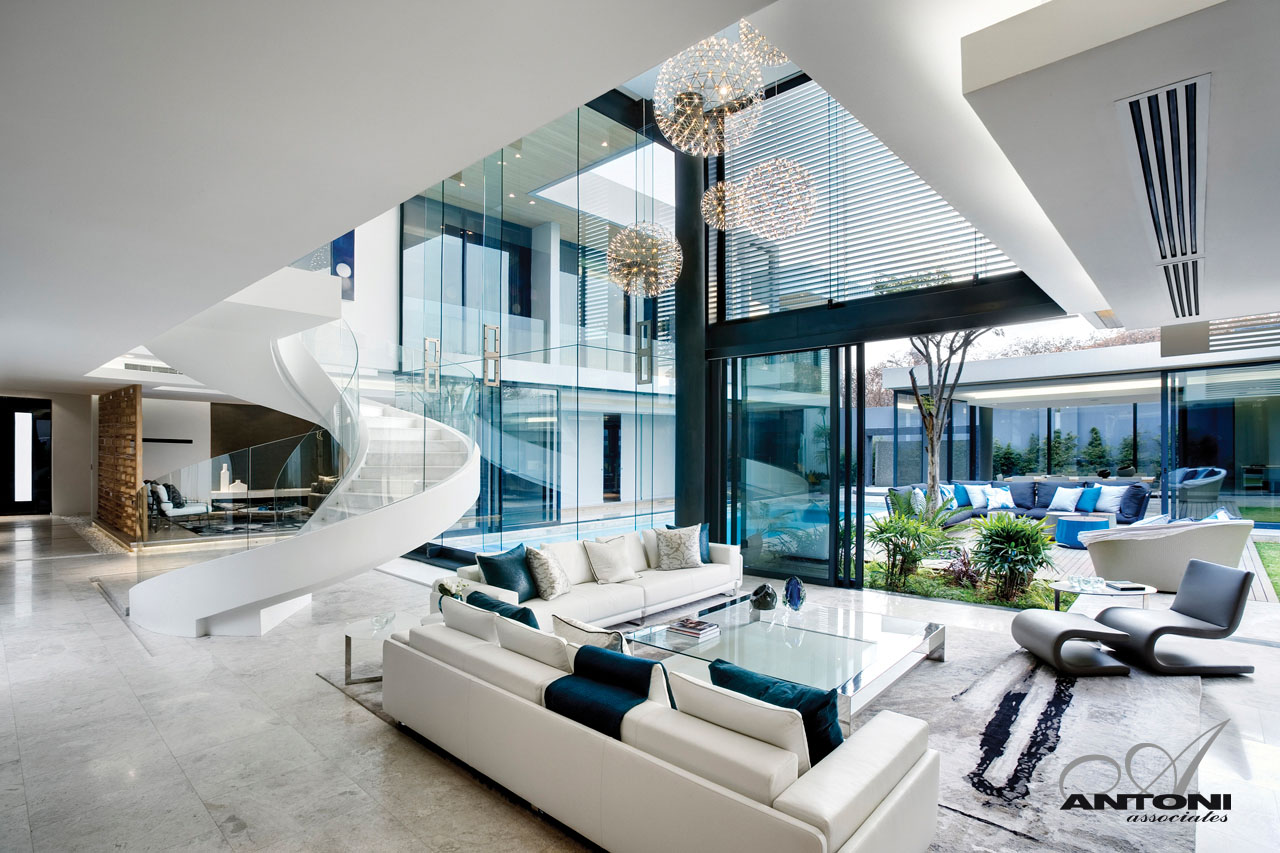Front Elevation Of Showroom : Th houghton residence by saota and antoni associates