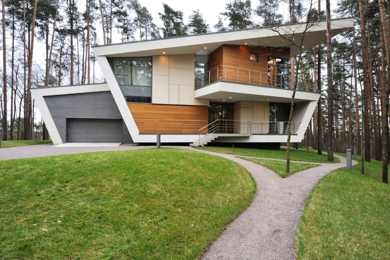 Contemporary house near moscow by atrium architects for Casas modernas futuristas