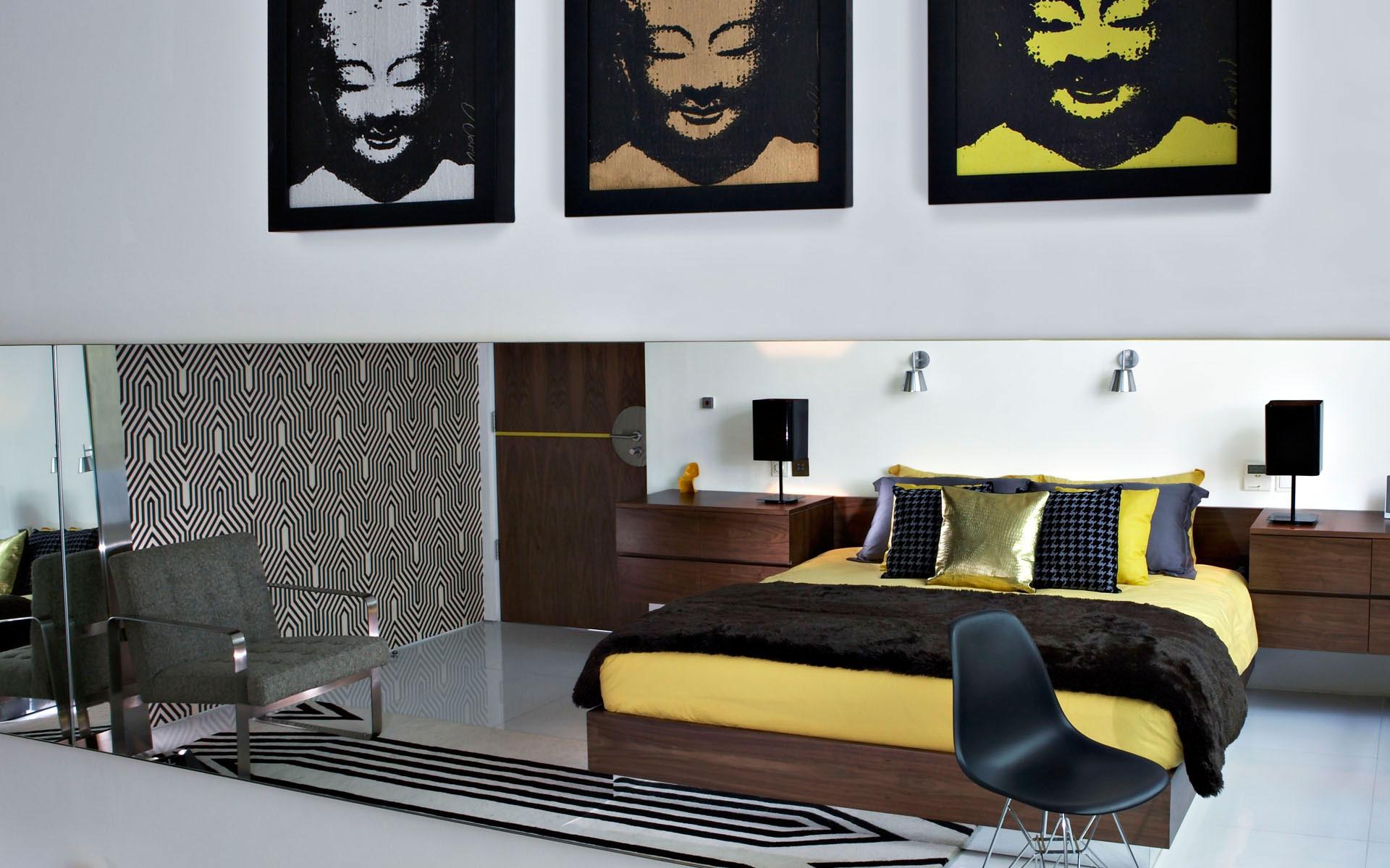 Luna2 private hotel architecture design - Chambre noir et blanche ...