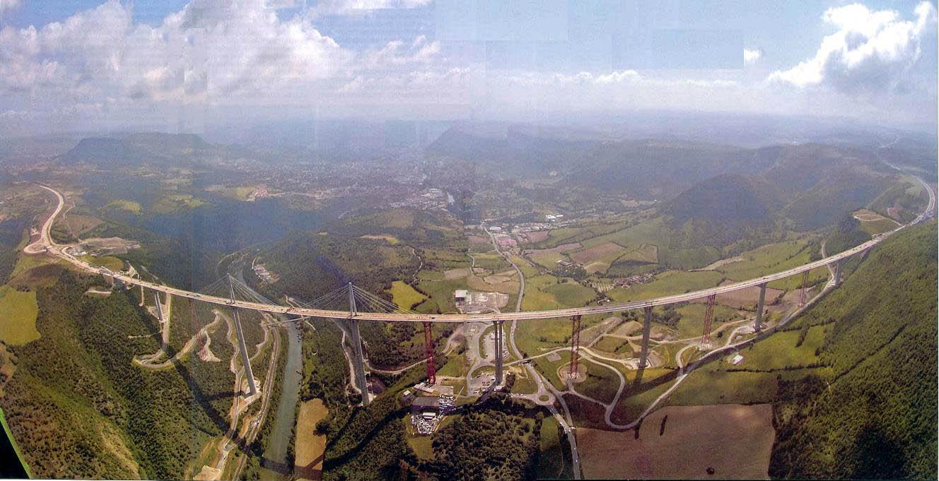 Millau Viaduct Bridge France Majestic View