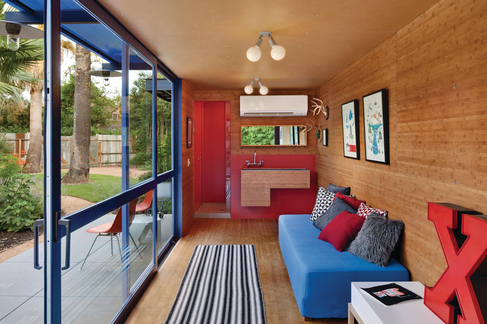 Shipping Container Guest House by Jim Poteet  Architecture & Design