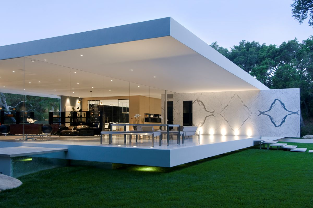 the glass pavilion an ultramodern house by steve hermann architecture design. Black Bedroom Furniture Sets. Home Design Ideas