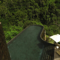 Hanging Infinity Pools in Bali at Ubud Hotel & Resort