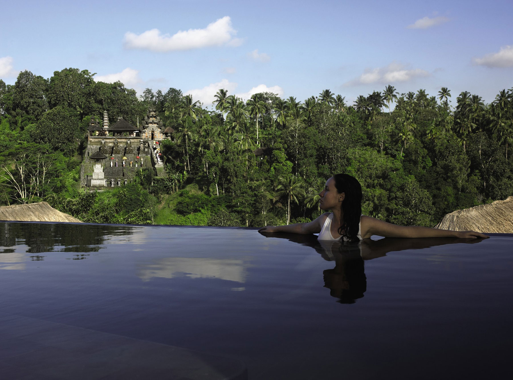 Hanging Infinity Pools In Bali At Ubud Hotel Resort Architecture