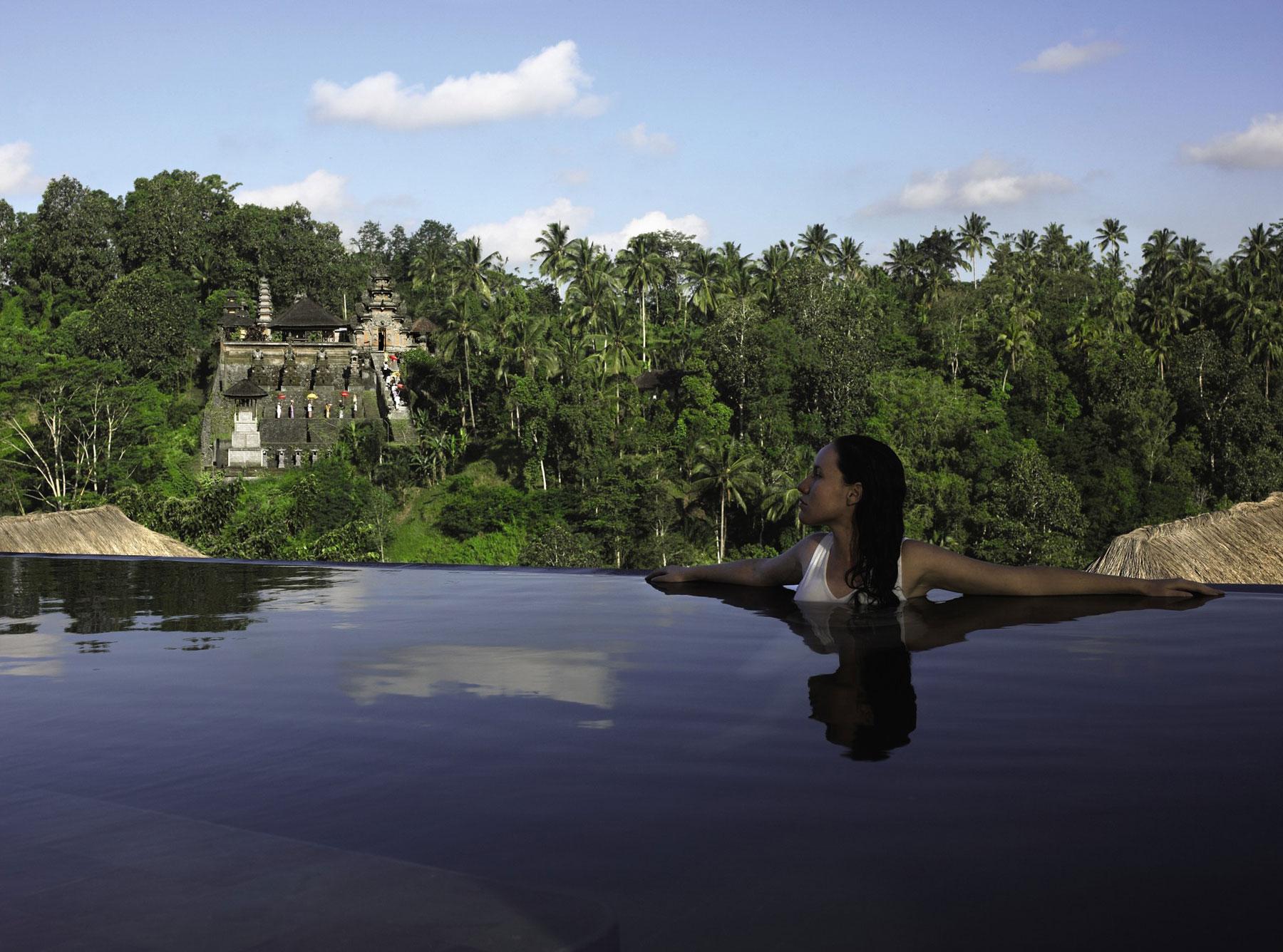Hanging Infinity Pools In Bali At Ubud Hotel Amp Resort