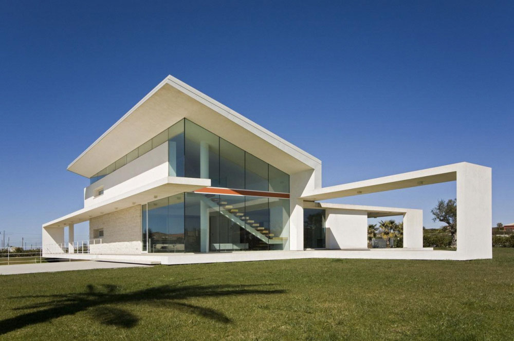 House made of glass and concrete in sicily by architrend for Minimal architettura