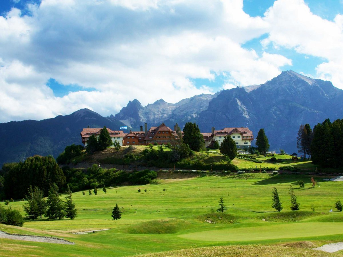 Drink tea at the luxurious Llao Llao hotel in Bariloche, Argentina.