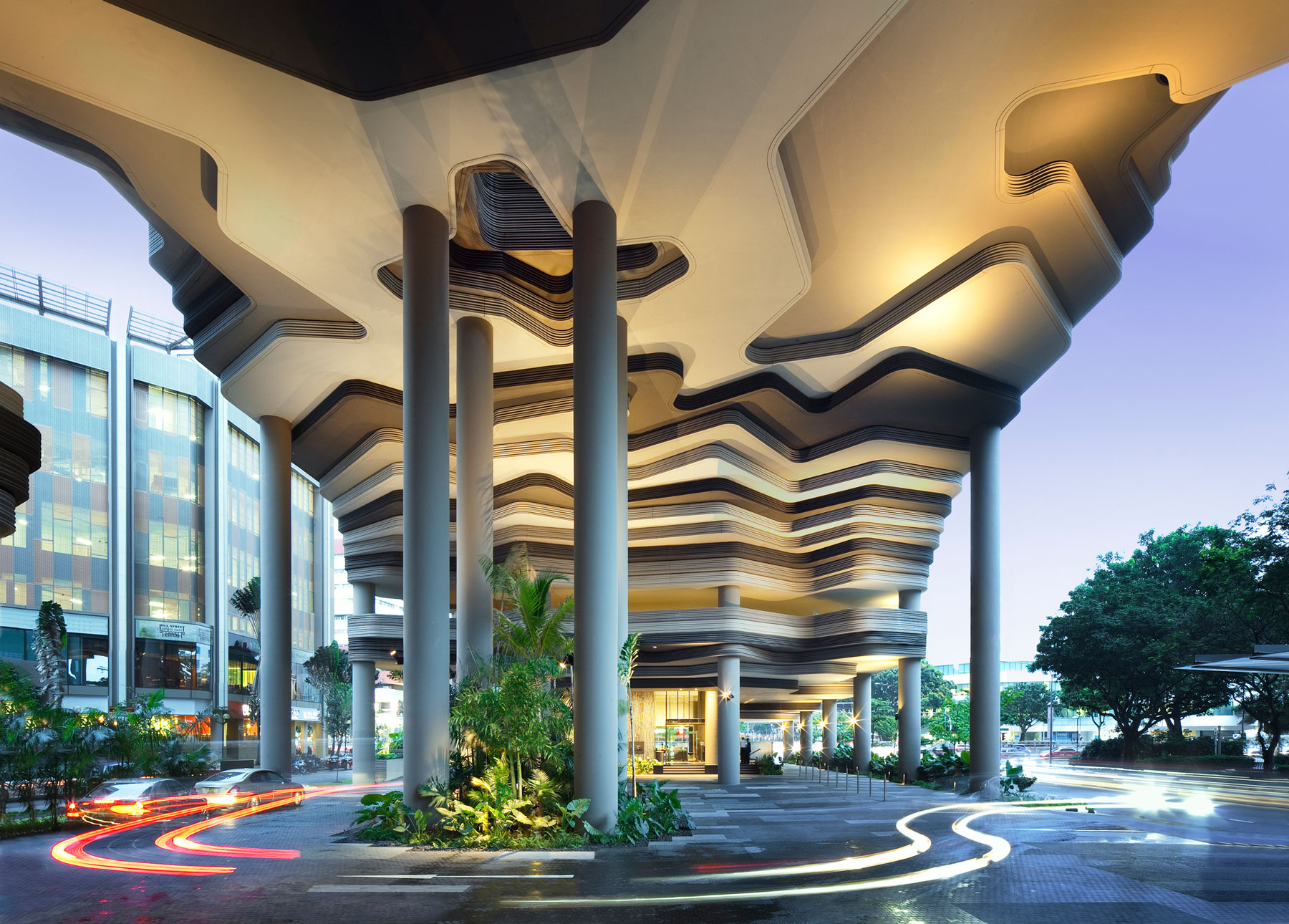 Parkroyal on pickering by woha architecture design for Design hotel 4 stars