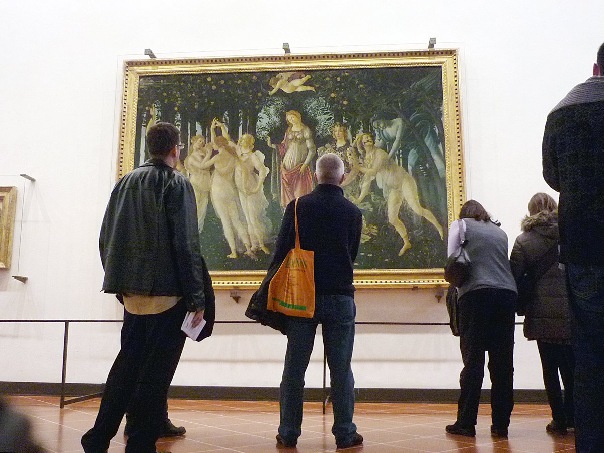"""Seek out Botticelli's masterpieces, """"The Birth of Venus"""" and """"Primavera,"""" inside Florence's Uffizi Gallery."""