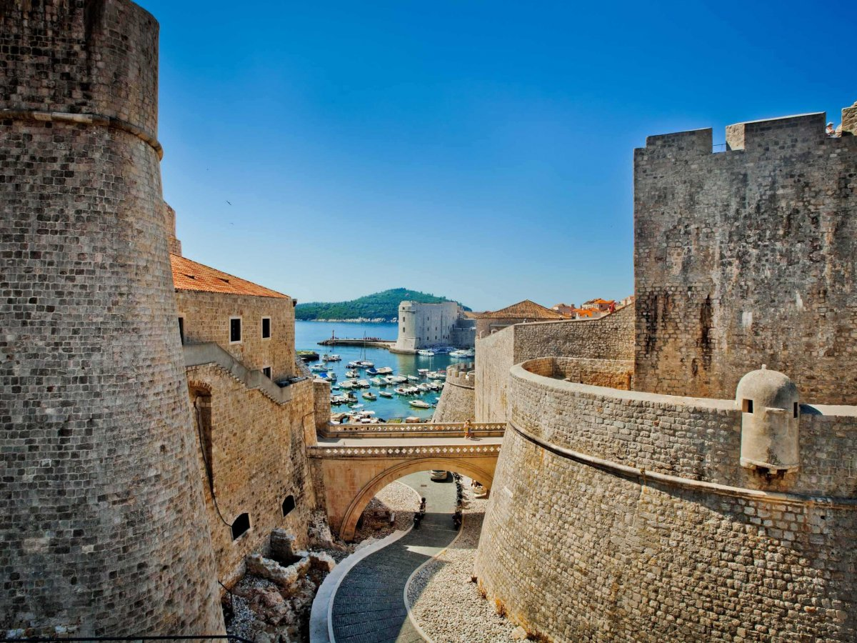 Stroll the historic fortified city of Dubrovnik, Croatia.