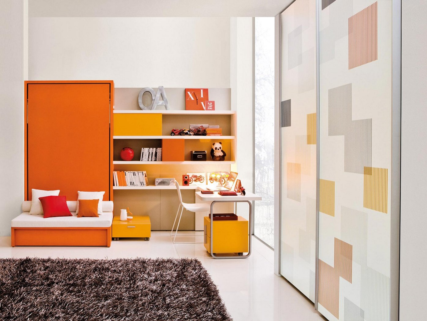 14 Modern Orange Kids Room