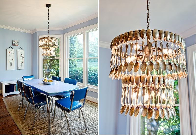 25 magnificent chandeliers made out of crazy things 20 vintage spoons aloadofball Gallery