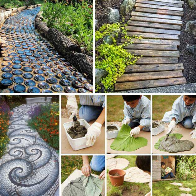 25 lovely diy garden pathway ideas architecture design for Diy home design ideas landscape backyard