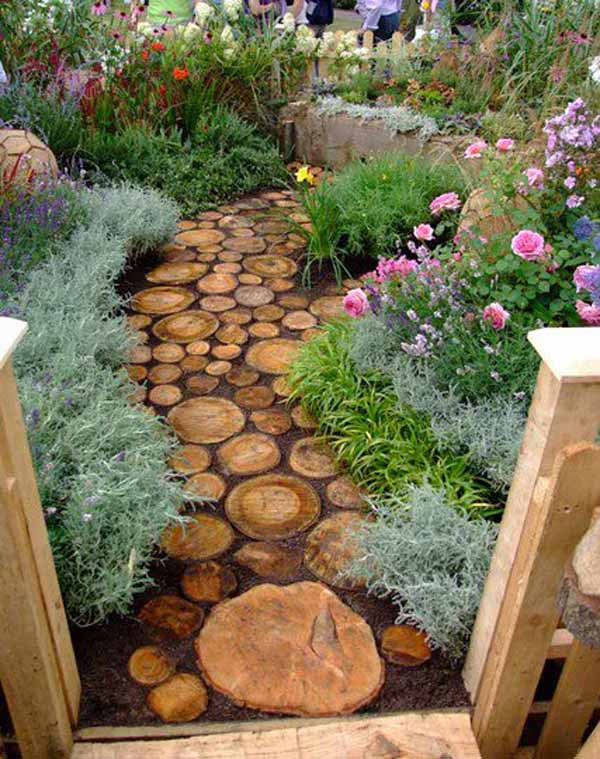 25 Lovely DIY Garden Pathway Ideas 15