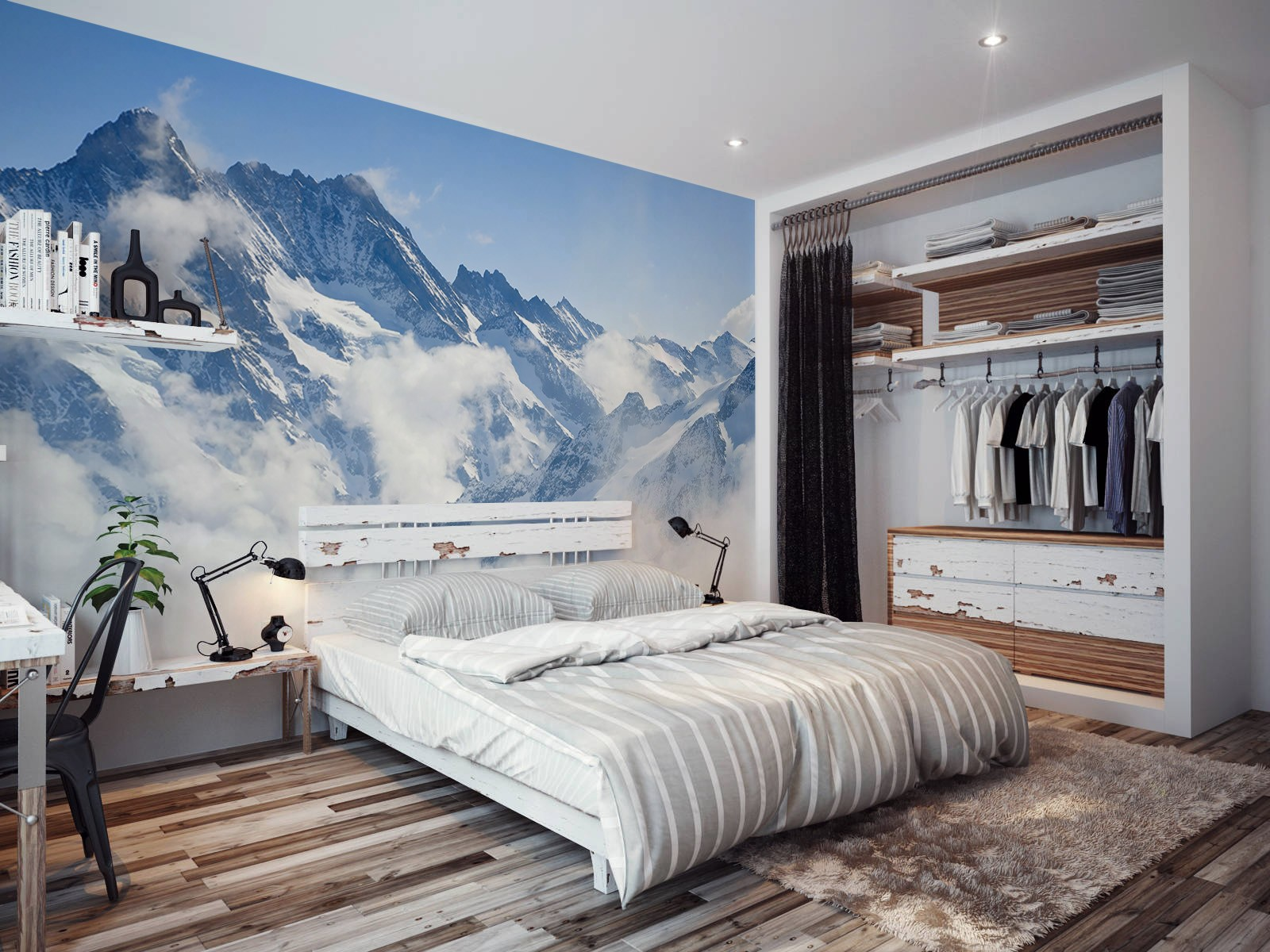 Nature inspired eye deceiving wall murals to make your home look 5 mountains wall mural by pixers amipublicfo Gallery