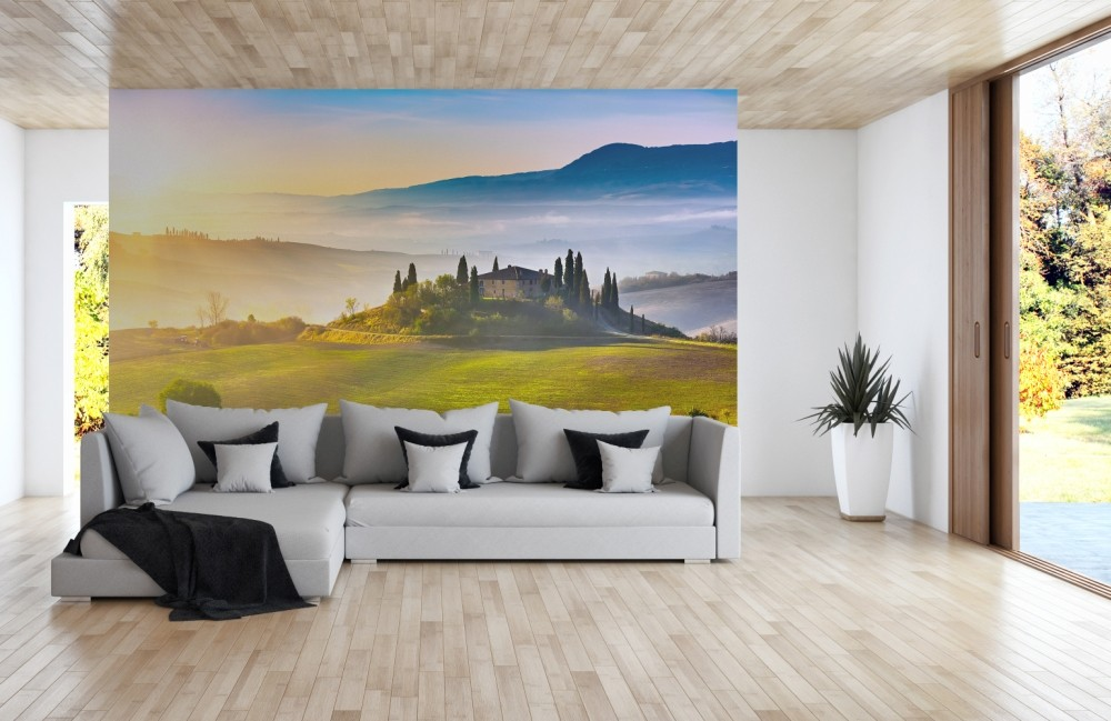 nature inspired eye deceiving wall murals to make your. Black Bedroom Furniture Sets. Home Design Ideas
