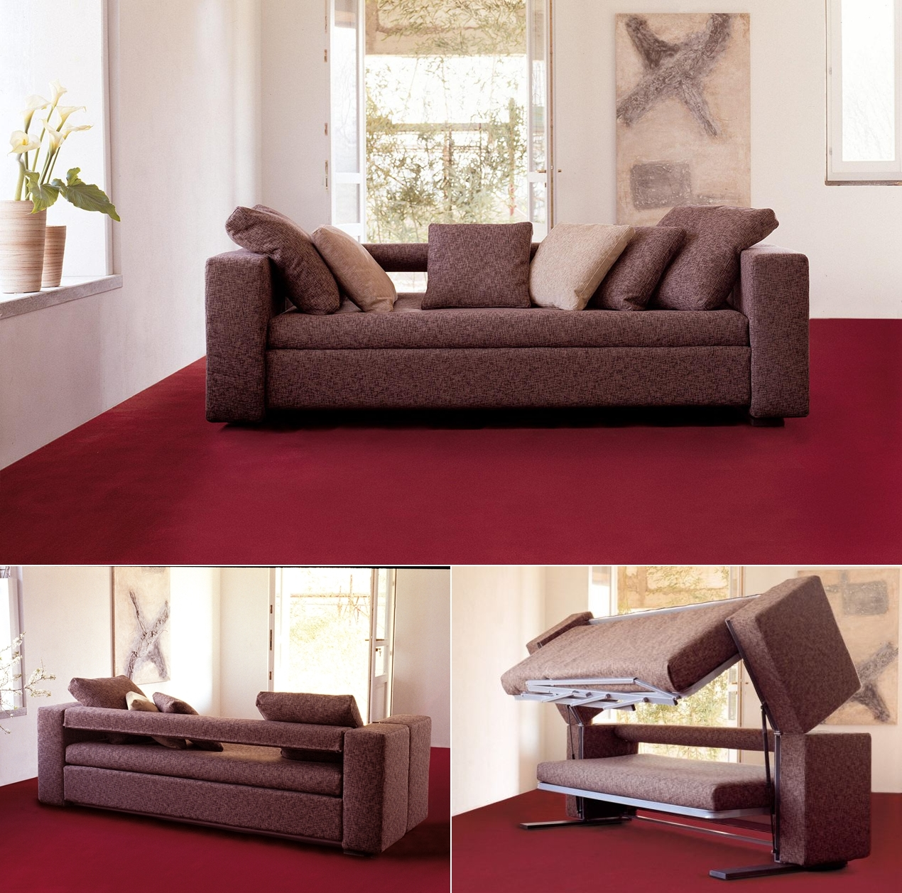 Couch Turns Into A Bed. AD Awesome Beds In Tiny Spaces 05