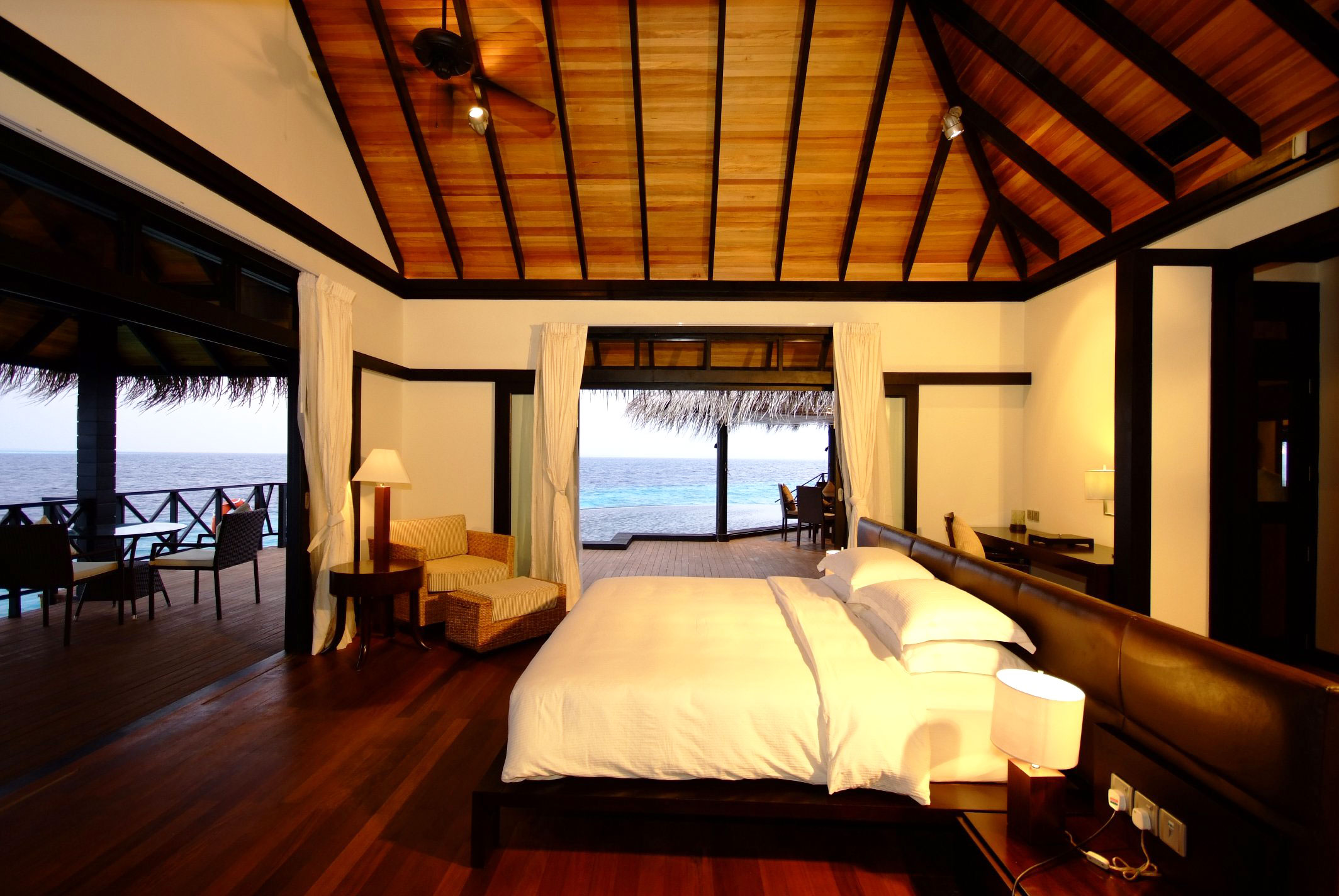 Iruveli a serene beach house in maldives architecture for Wooden hotel design