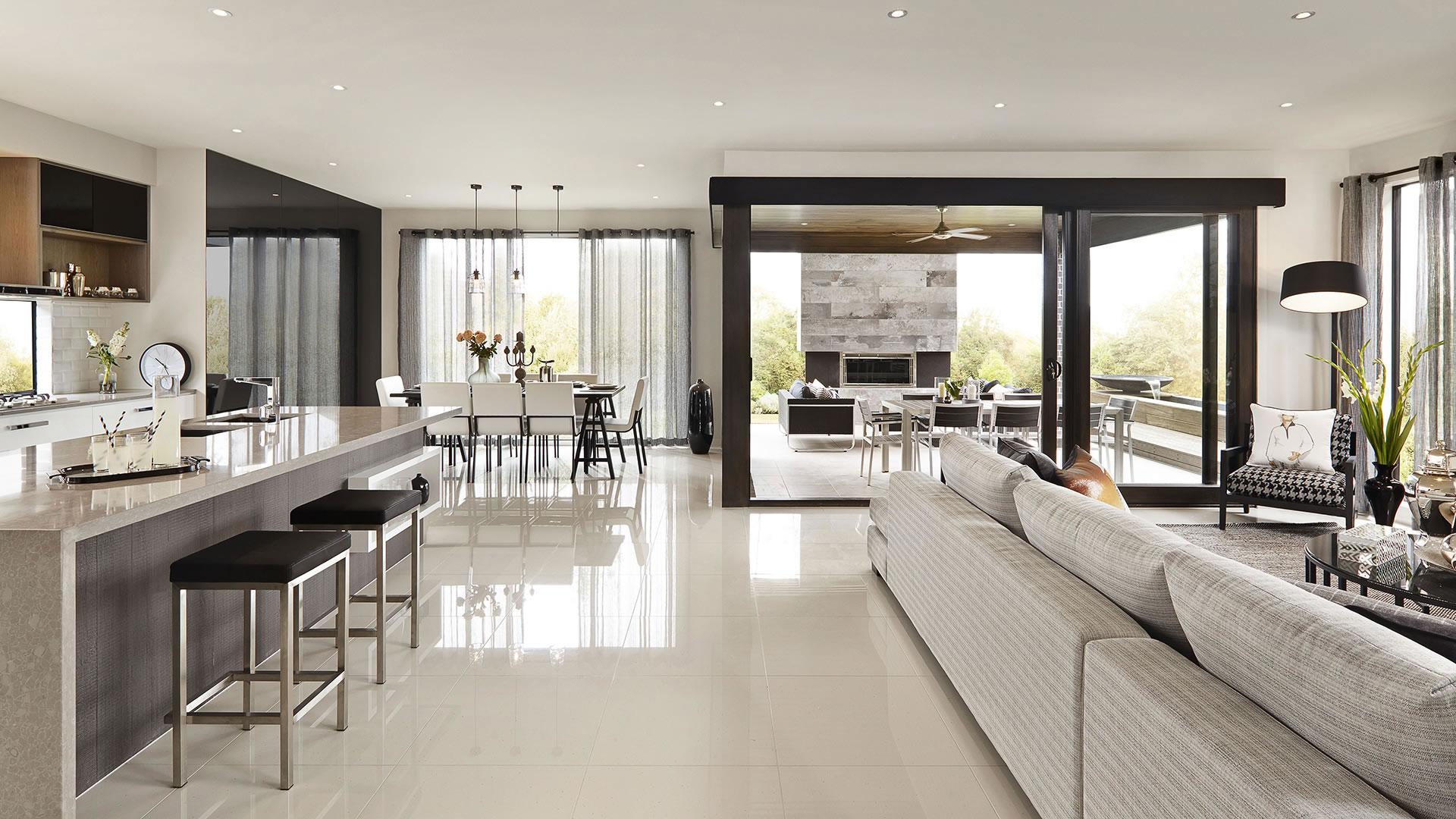 Open Plan Kitchen Living Room Colour Scheme