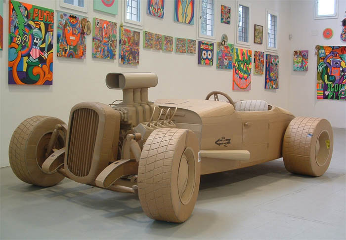 2 Cardboard Art Sculptures Chris Gilmour 02