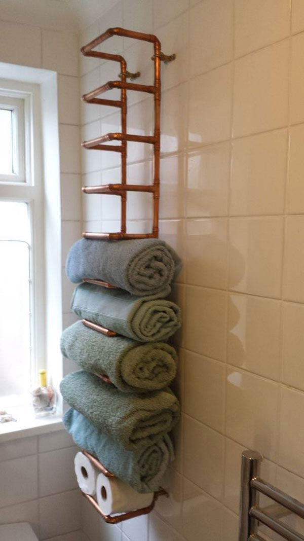 Crate Shelves Bathroom Towel Storage