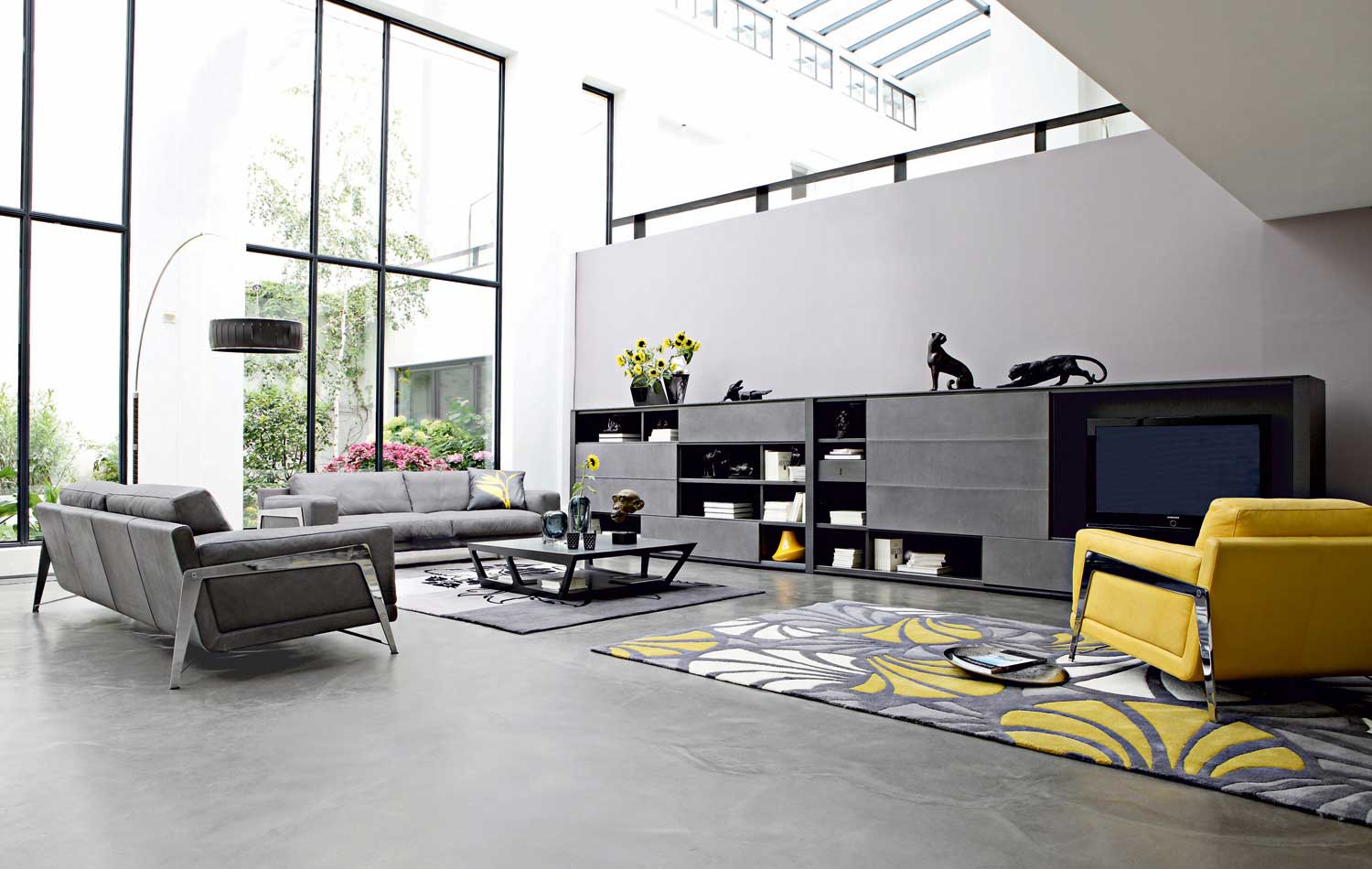 living room inspiration 120 modern sofas by roche bobois. Black Bedroom Furniture Sets. Home Design Ideas