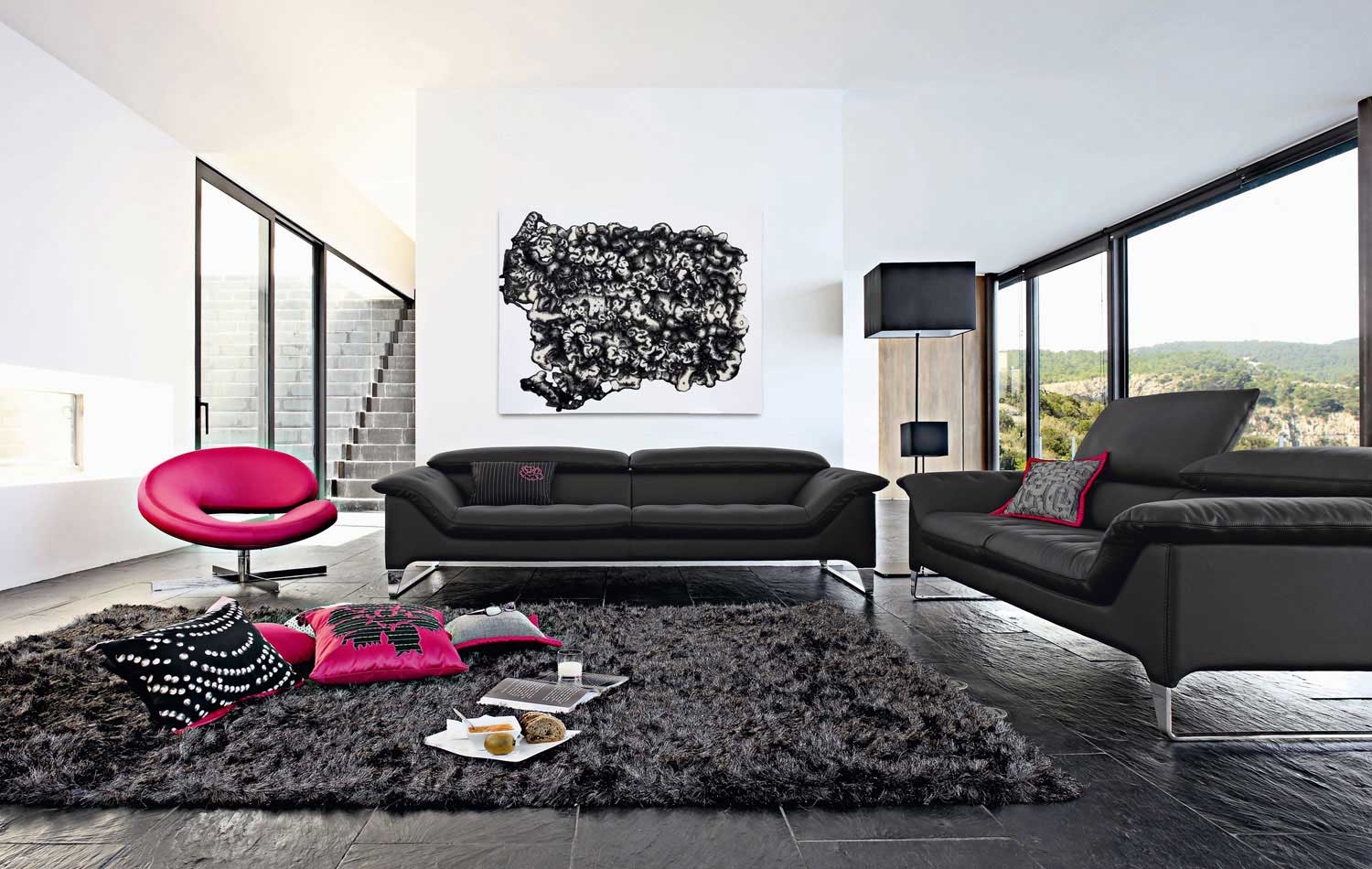 Living room inspiration 120 modern sofas by roche bobois for Canape cuir moderne contemporain