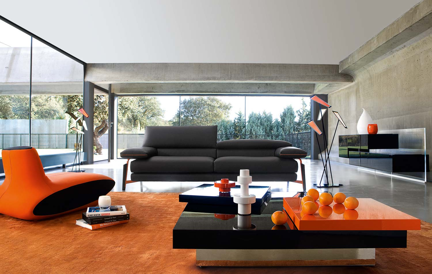 Living room inspiration 120 modern sofas by roche bobois for Couleur sejour moderne