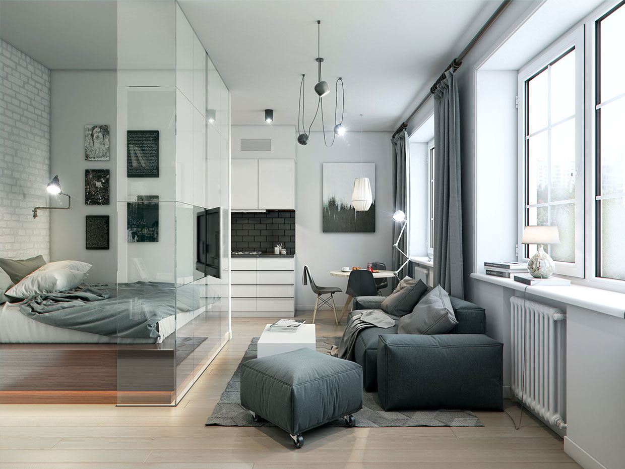 Bedroom design of 10 square meters. m - interior for a small square