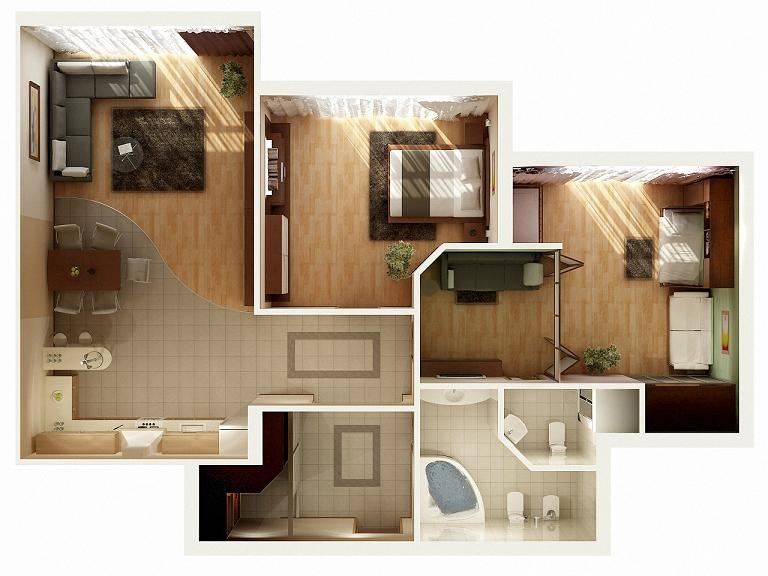 50 Two Quot 2 Quot Bedroom Apartment House Plans Architecture Amp Design